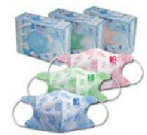 『121婦嬰用品館』藍鷹牌 3D幼童N95口罩5入 - 綠