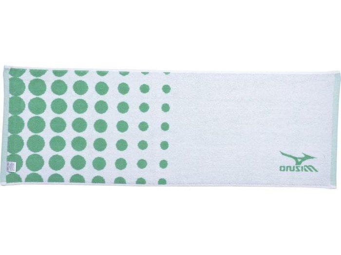 棒球世界全新 Mizuno美津濃 運動毛巾特價 白綠色