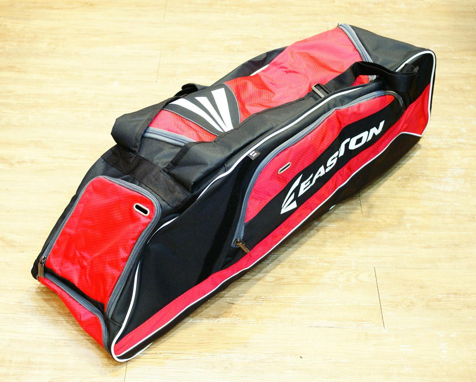 棒球世界 全新EASTON E500T 美式裝備袋 特價 紅色