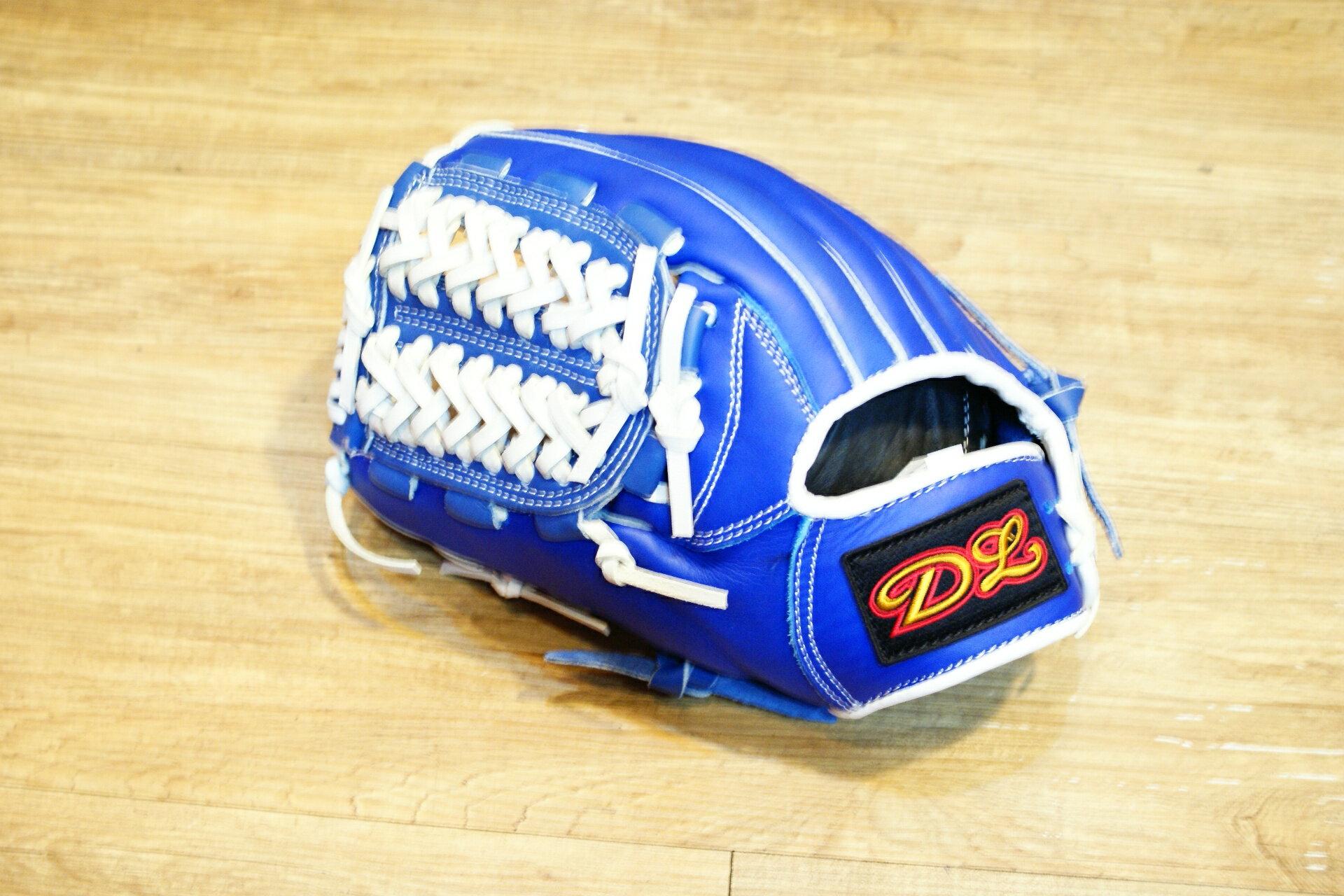 〈棒球世界〉DL訂製款 內野手式樣 棒壘球手套 /12.吋/送手套袋/藍色 反手用