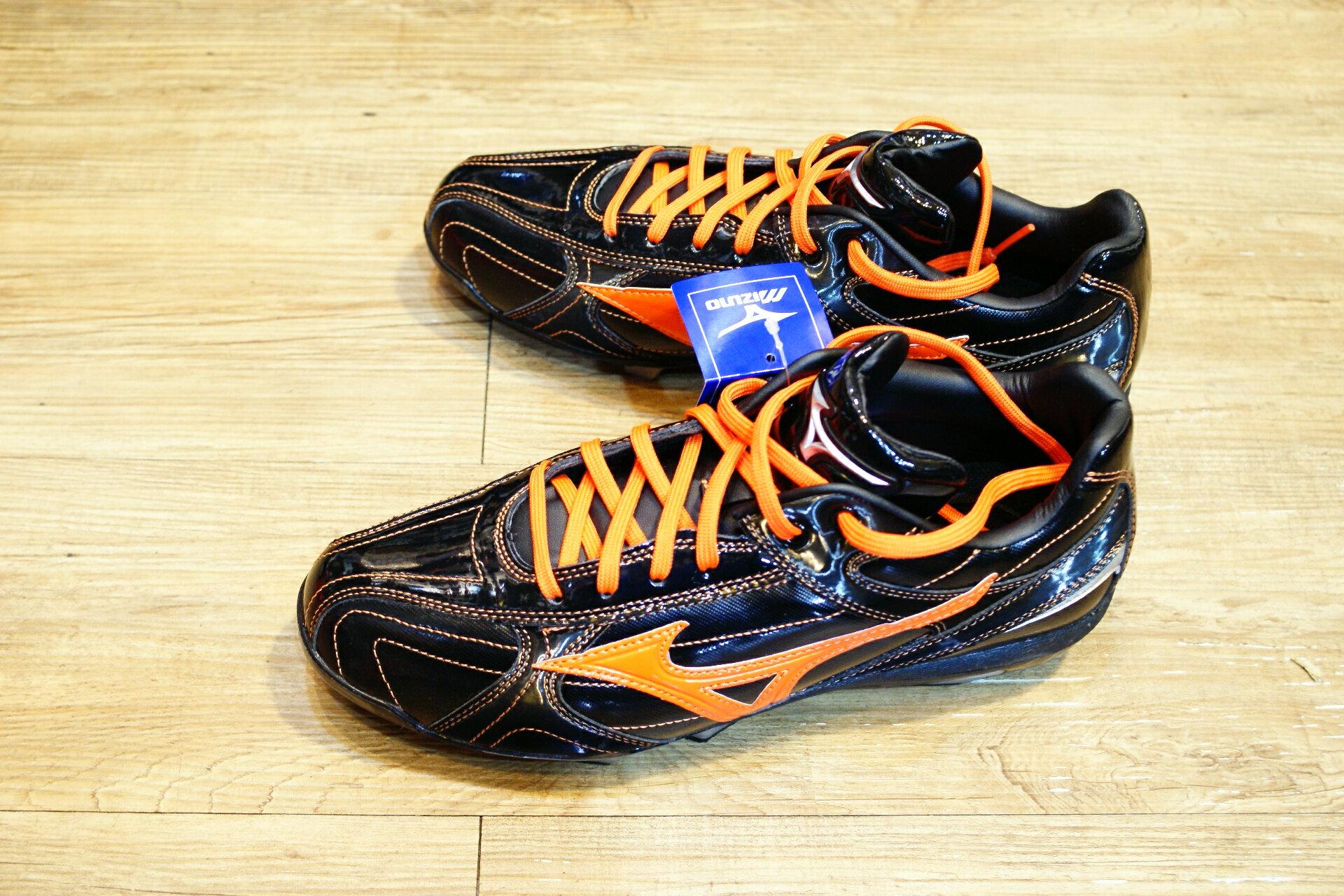 棒球世界 2015年 MIZUNO美津濃 Wave Franchise 棒壘球鞋 特價 黑橘巨人配色款式
