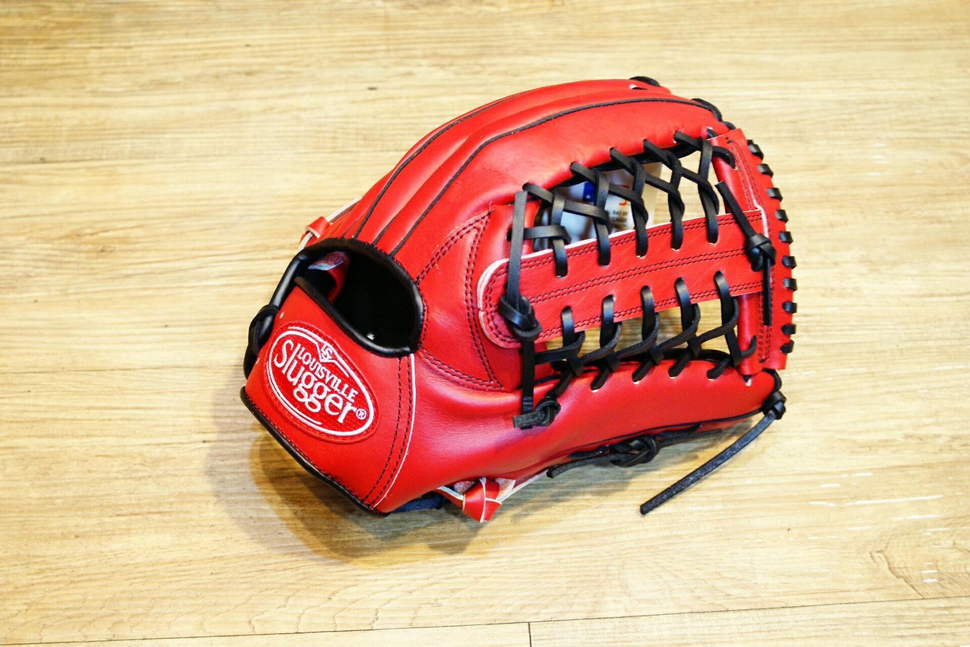 棒球世界 全新Louisvill Slugger 路易斯威爾TPX紅黑配色外野手手套 特價
