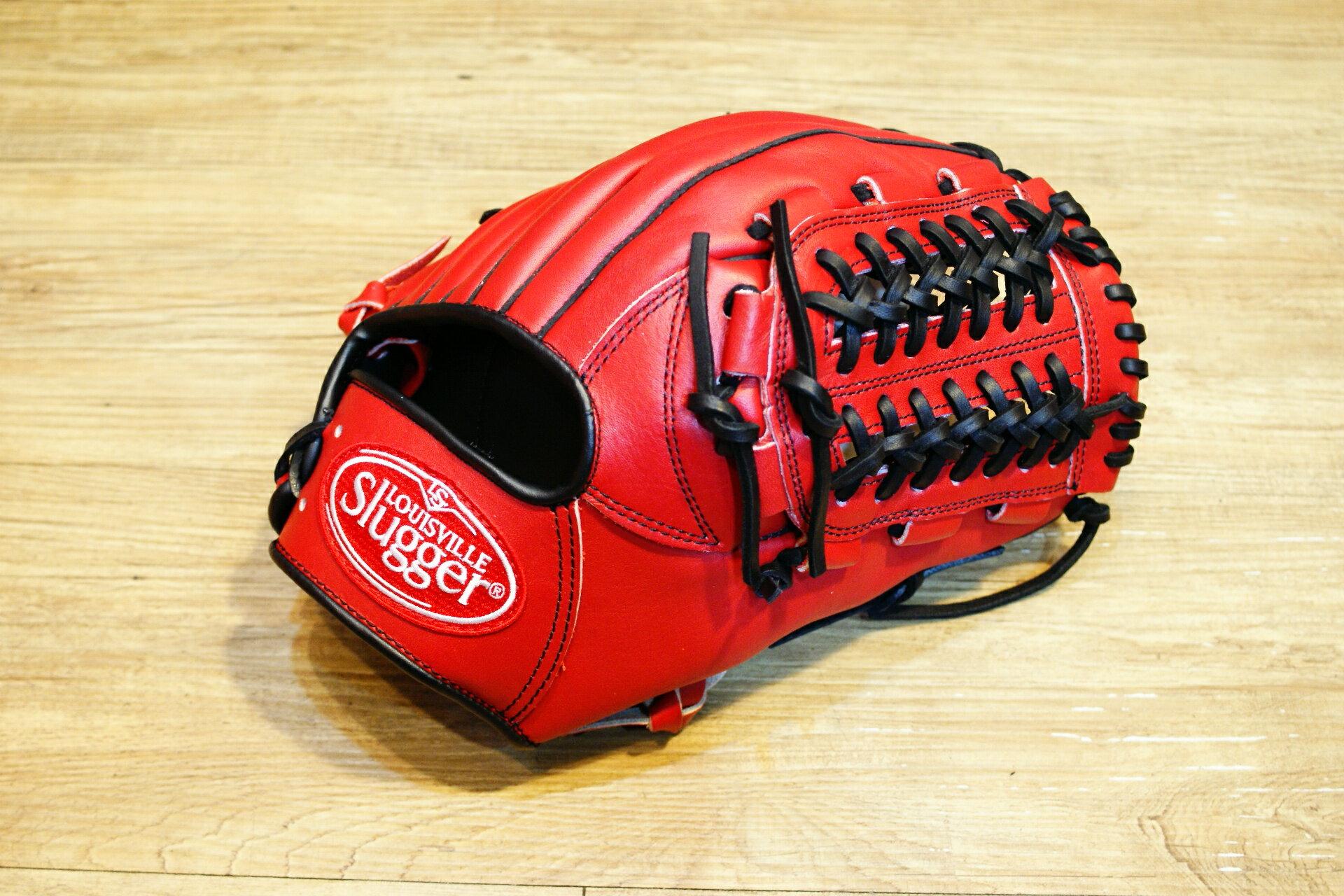 棒球世界 全新Louisvill Slugger 路易斯威爾TPX紅黑配色內野網狀手套 特價
