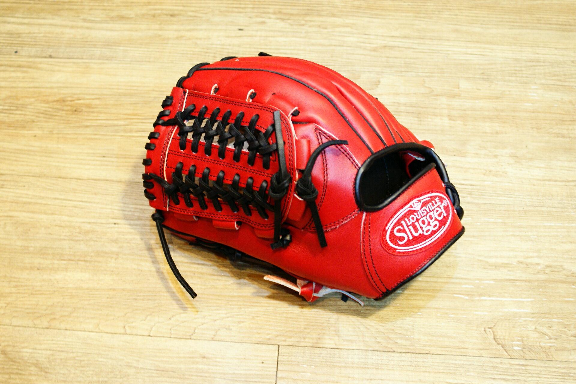 棒球世界 全新Louisvill Slugger 路易斯威爾TPX紅黑配色內野網狀手套 特價 反手用