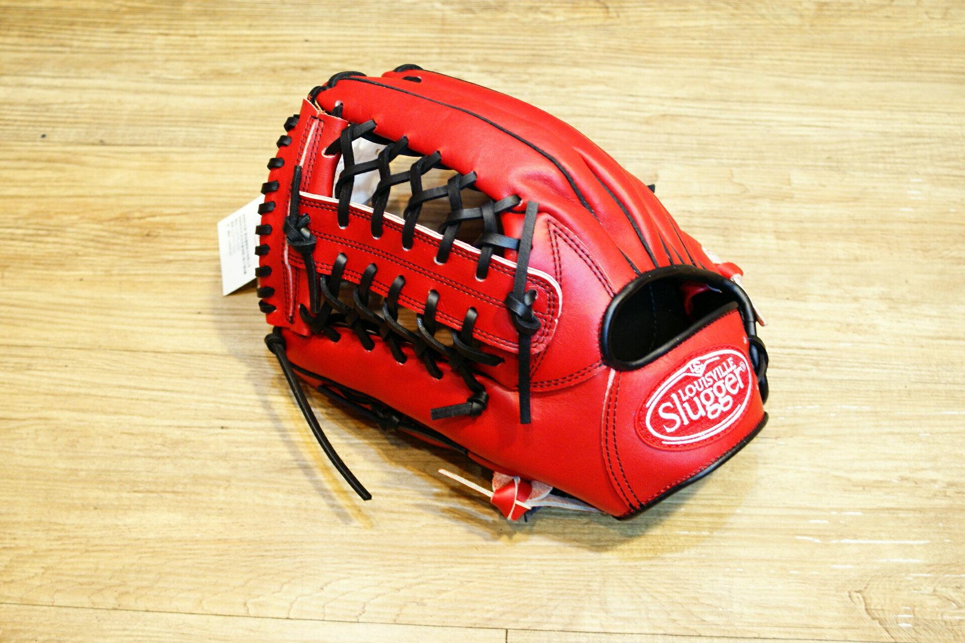 棒球世界 全新Louisvill Slugger 路易斯威爾TPX紅黑配色外野手手套 特價 反手用