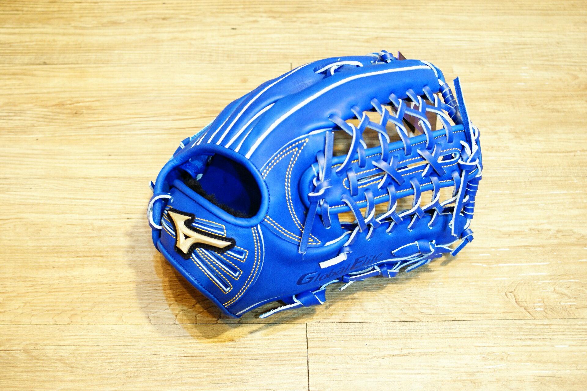 棒球世界 全新Mizuno美津濃 GLOBAL ELITE 硬式棒球外野手套 特價 藍色款