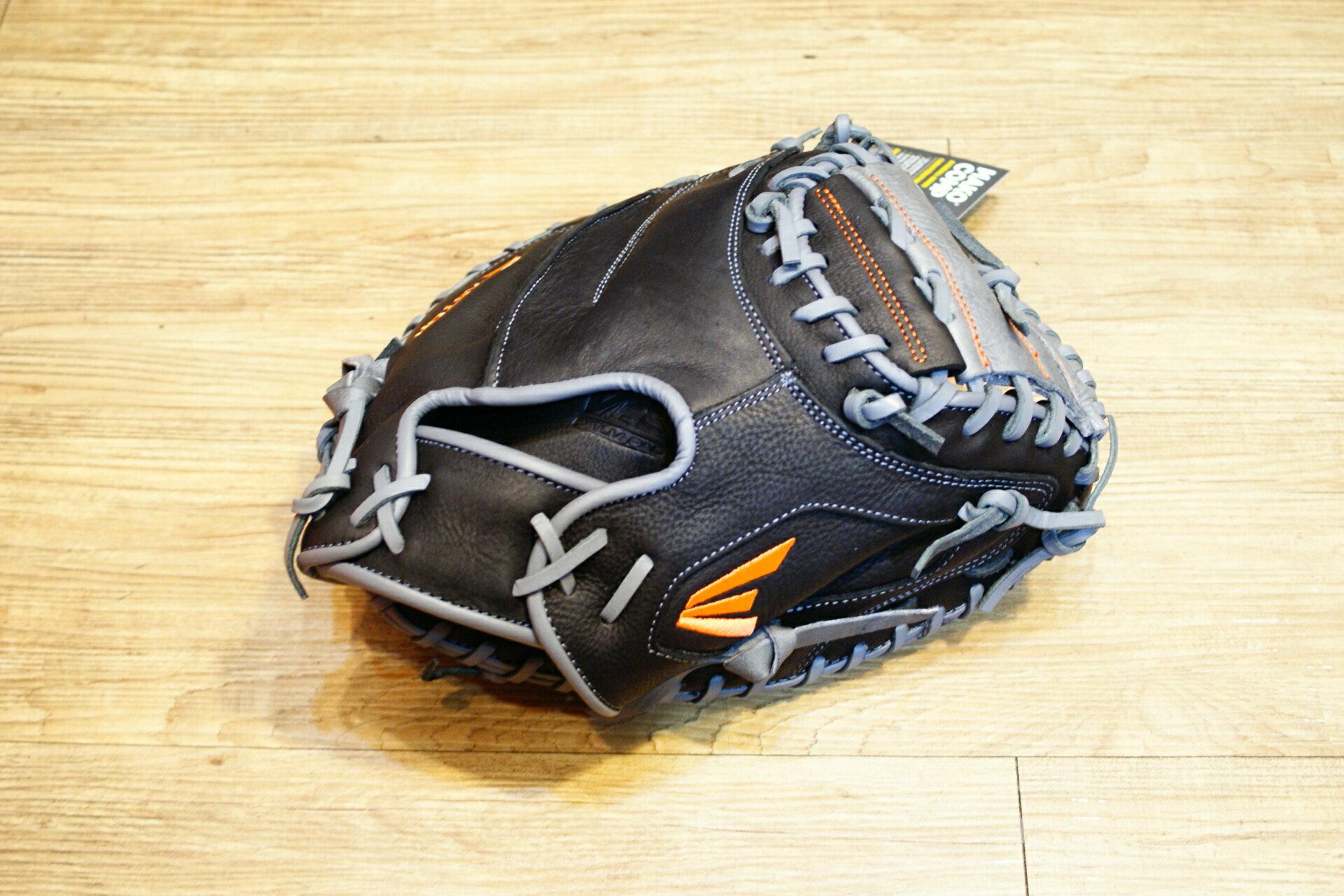 棒球世界 全新16年EASTON 美國進口牛皮補手用手套 特價 黑灰配色