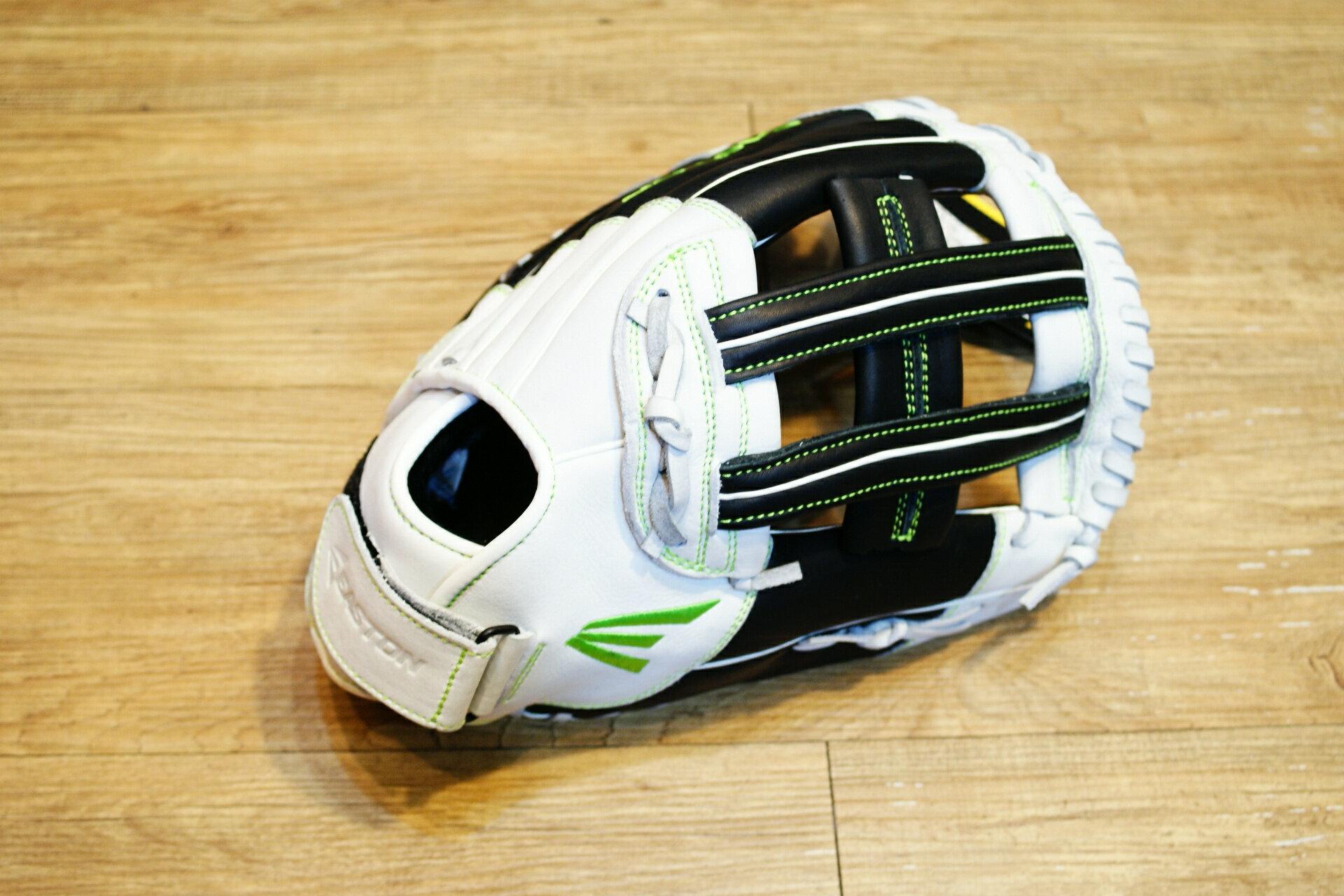棒球世界 全新16年EASTON 美國進口牛皮外野手手套 特價 黑白配色