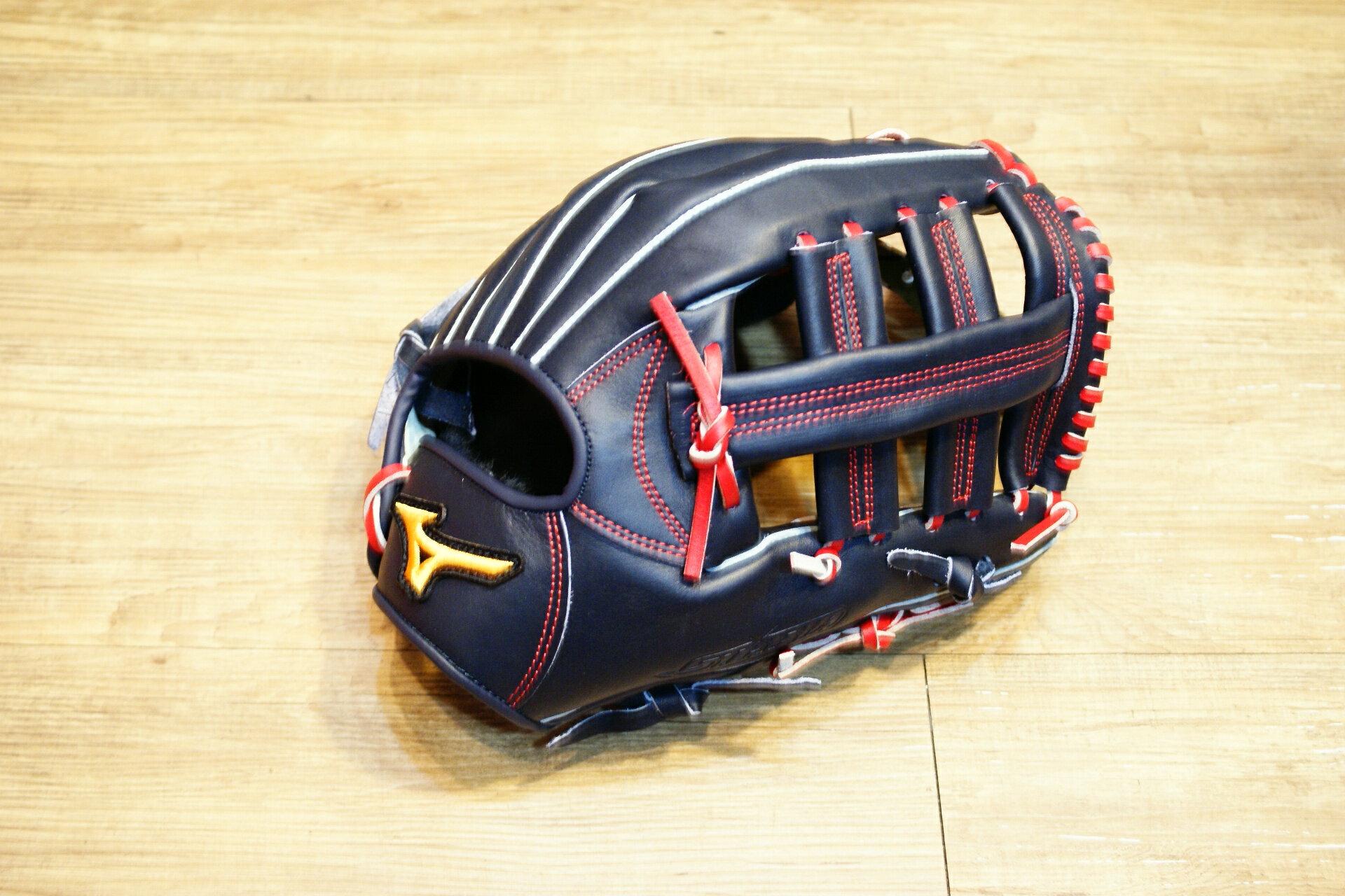 棒球世界 Mizuno 美津濃 STARIA 壘球手套 1ATGS50660 特價 外野雙十字 丈青色