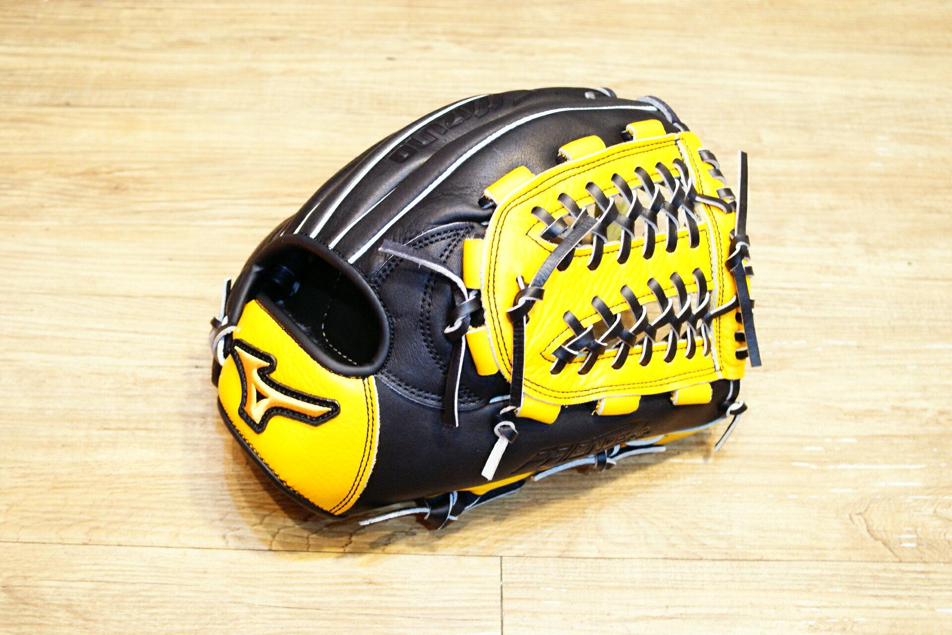 棒球世界 Mizuno 美津濃 FRIEND SHIP 壘球手套 1ATGS50870 特價黑原皮色 內網