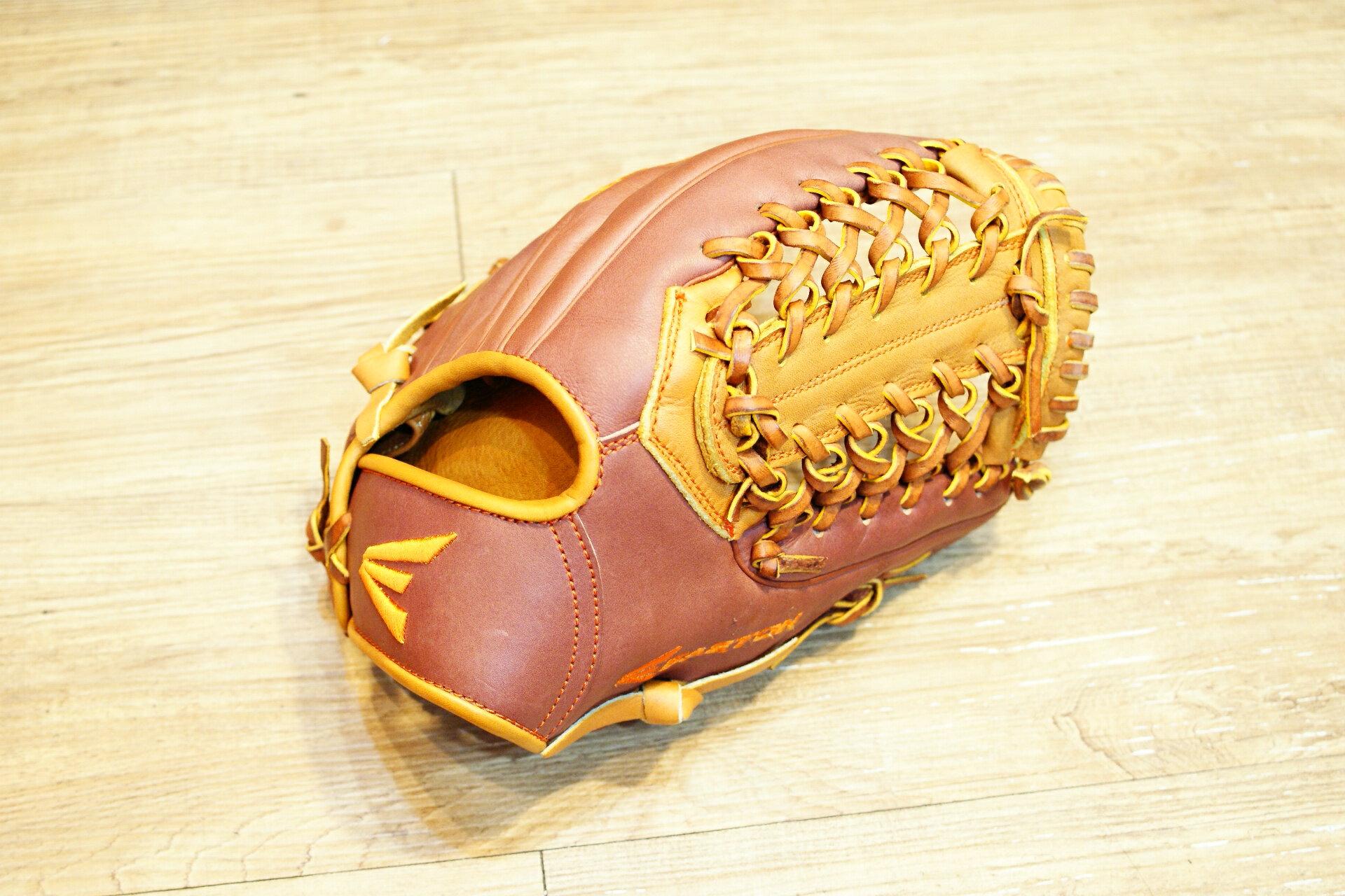 棒球世界原裝進口EASTON美規職業等級小牛皮棒壘手套 特價 內野T網
