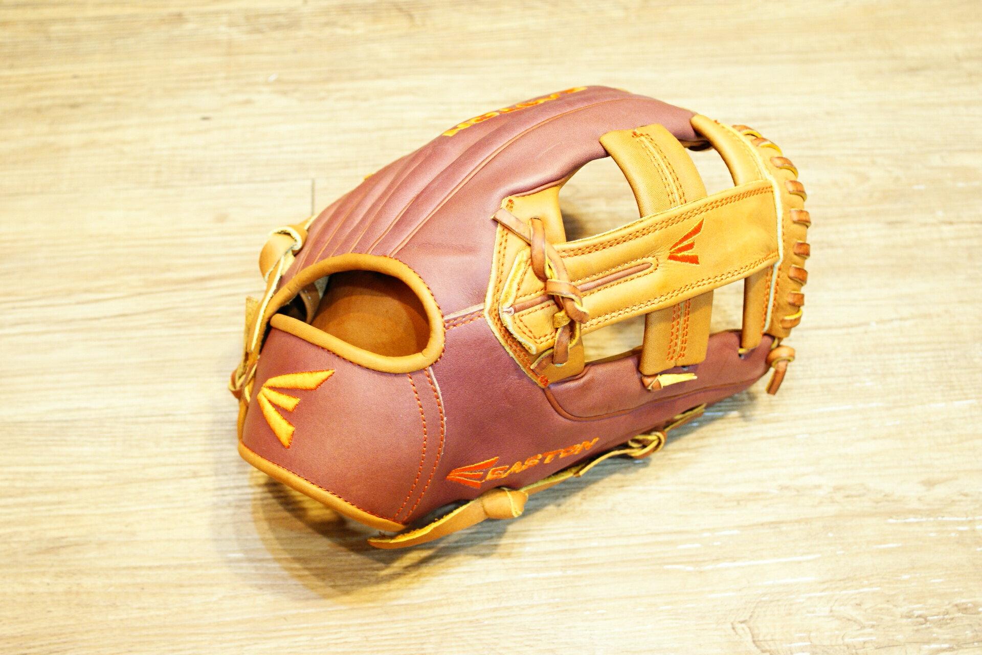 棒球世界原裝進口EASTON美規職業等級小牛皮棒壘手套 特價 內野十字