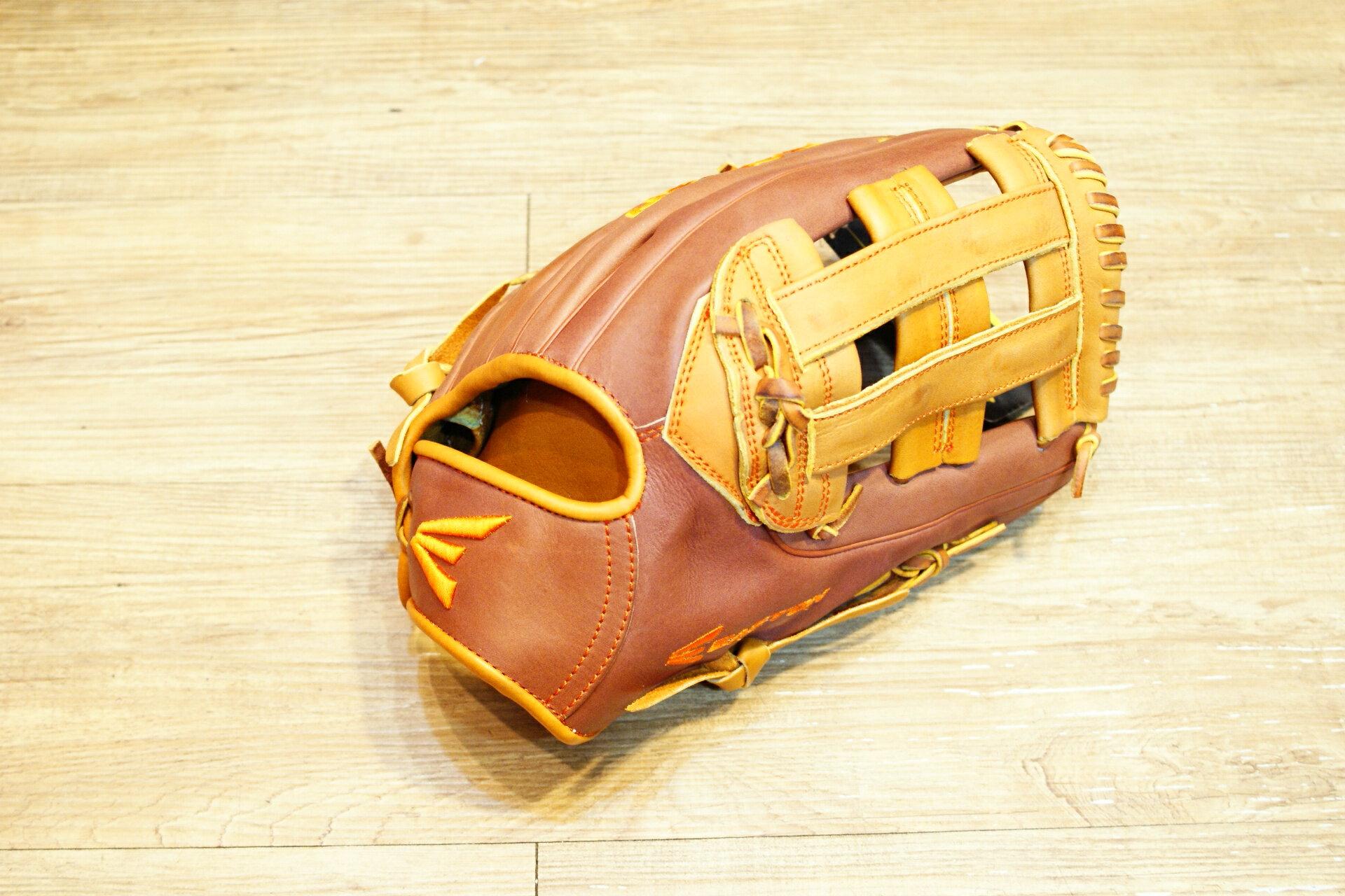 棒球世界原裝進口EASTON美規職業等級小牛皮棒壘手套 特價 外野井字