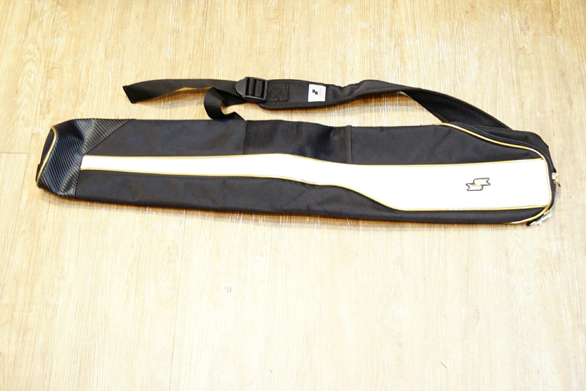 棒球世界全新SSK日本進口高質感雙支裝球棒袋 黑金配色 特價