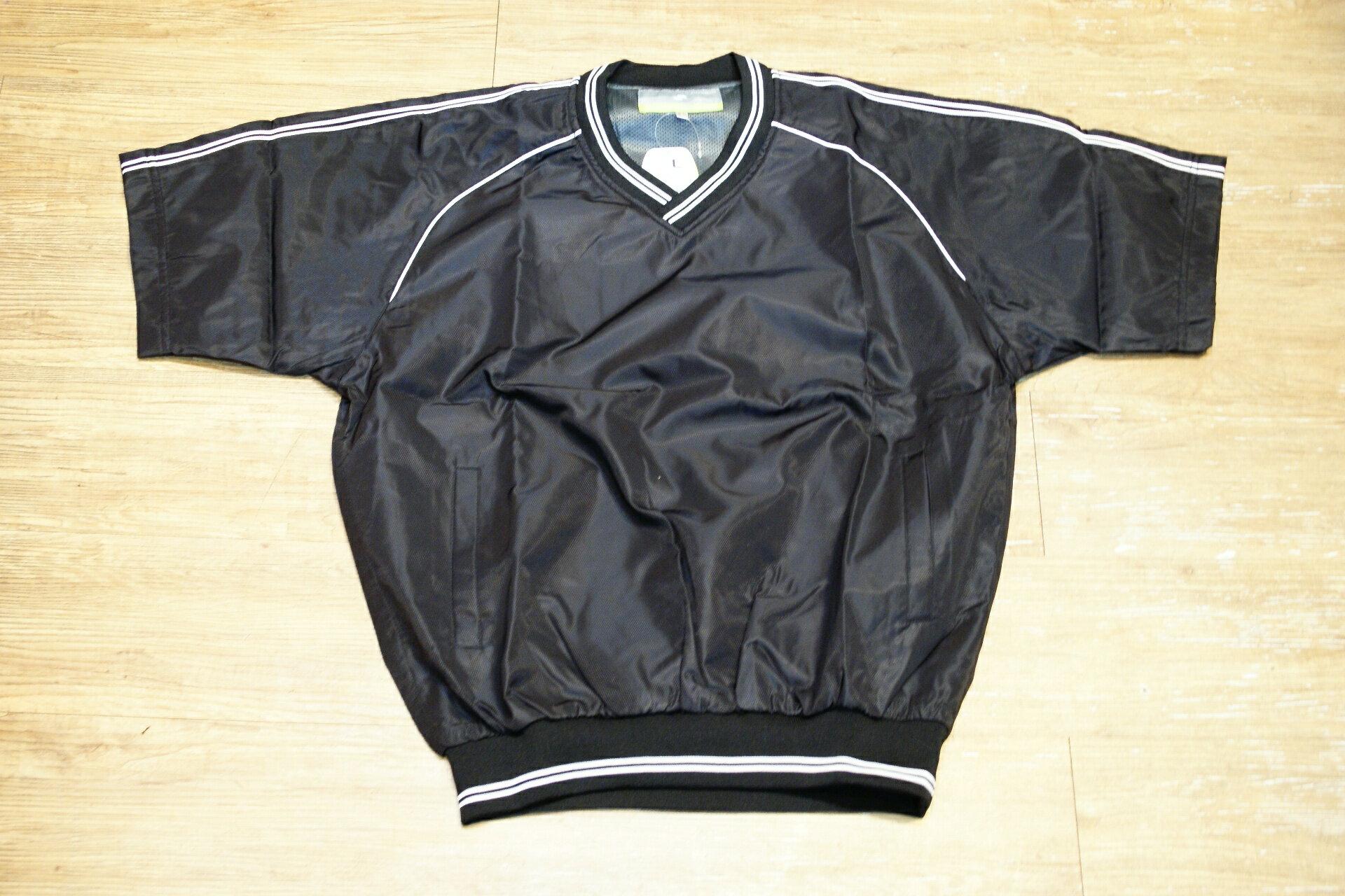 棒球世界全新SSK日本進口高質感短袖風衣 黑色特價
