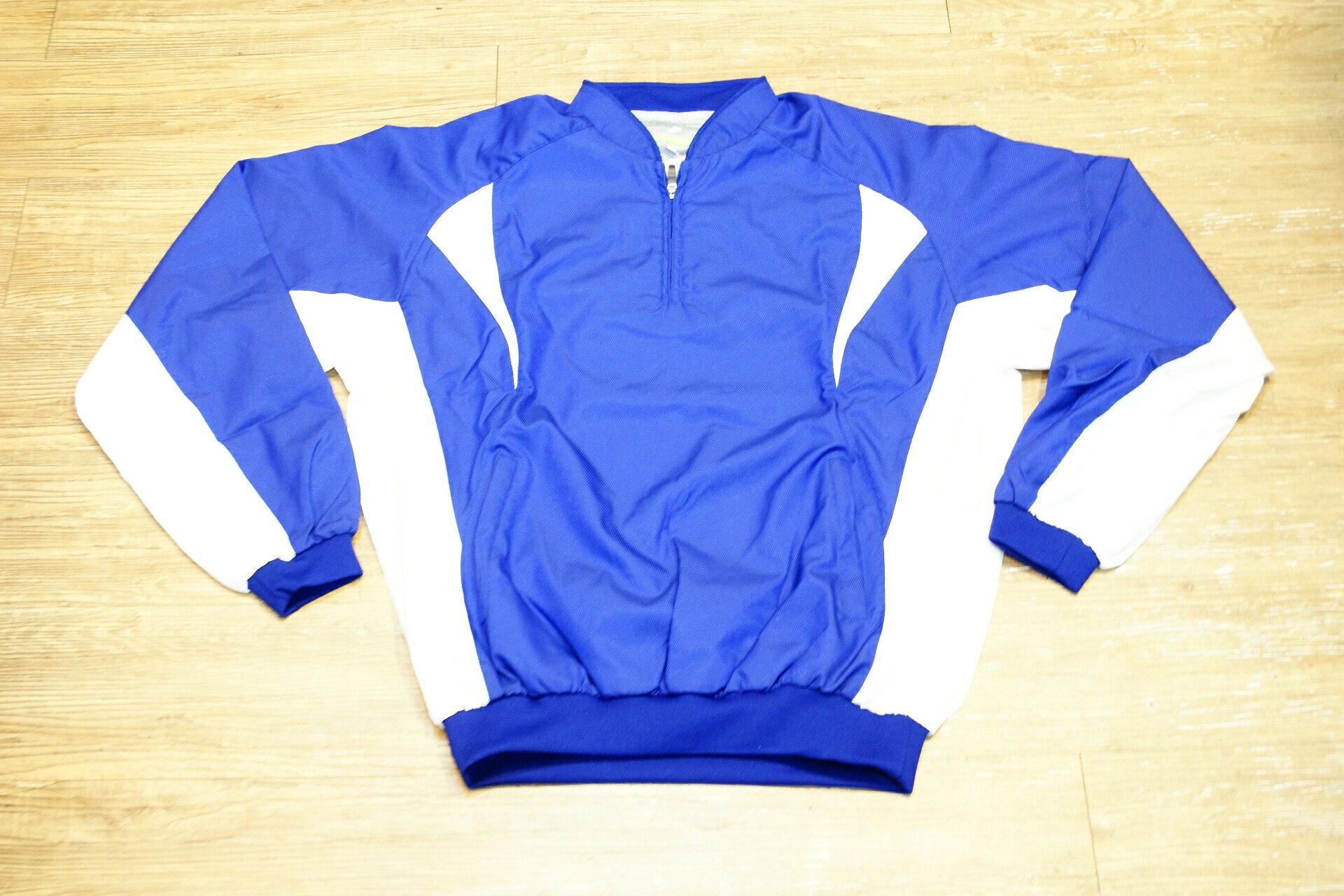棒球世界全新SSK日本進口高質感長袖風衣 寶藍色特價