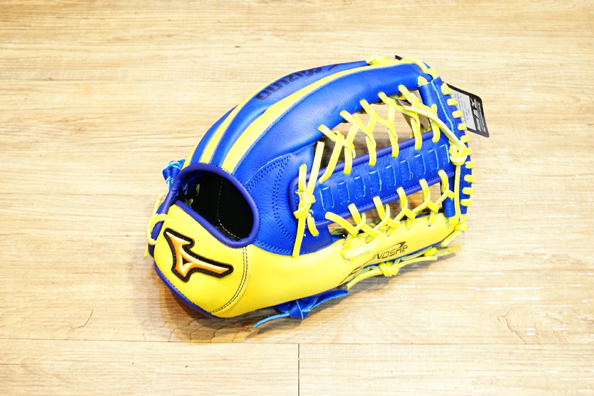 棒球世界 Mizuno 美津濃 FRIEND SHIP 壘球手套 1ATGS50890 特價萊姆藍配色 T網檔