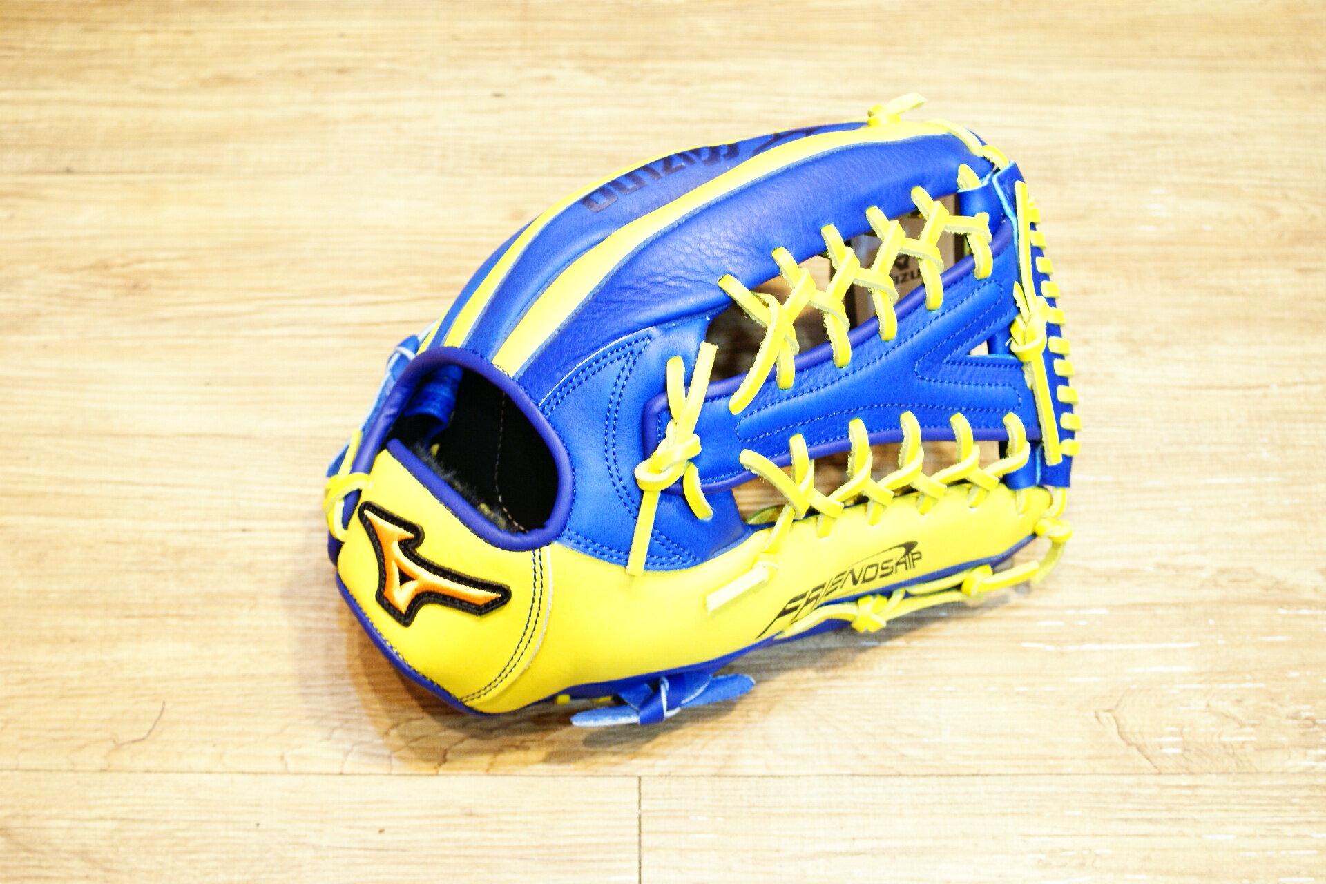 棒球世界 Mizuno 美津濃 FRIEND SHIP 壘球手套 1ATGS50860 特價萊姆藍配色 Y網球檔