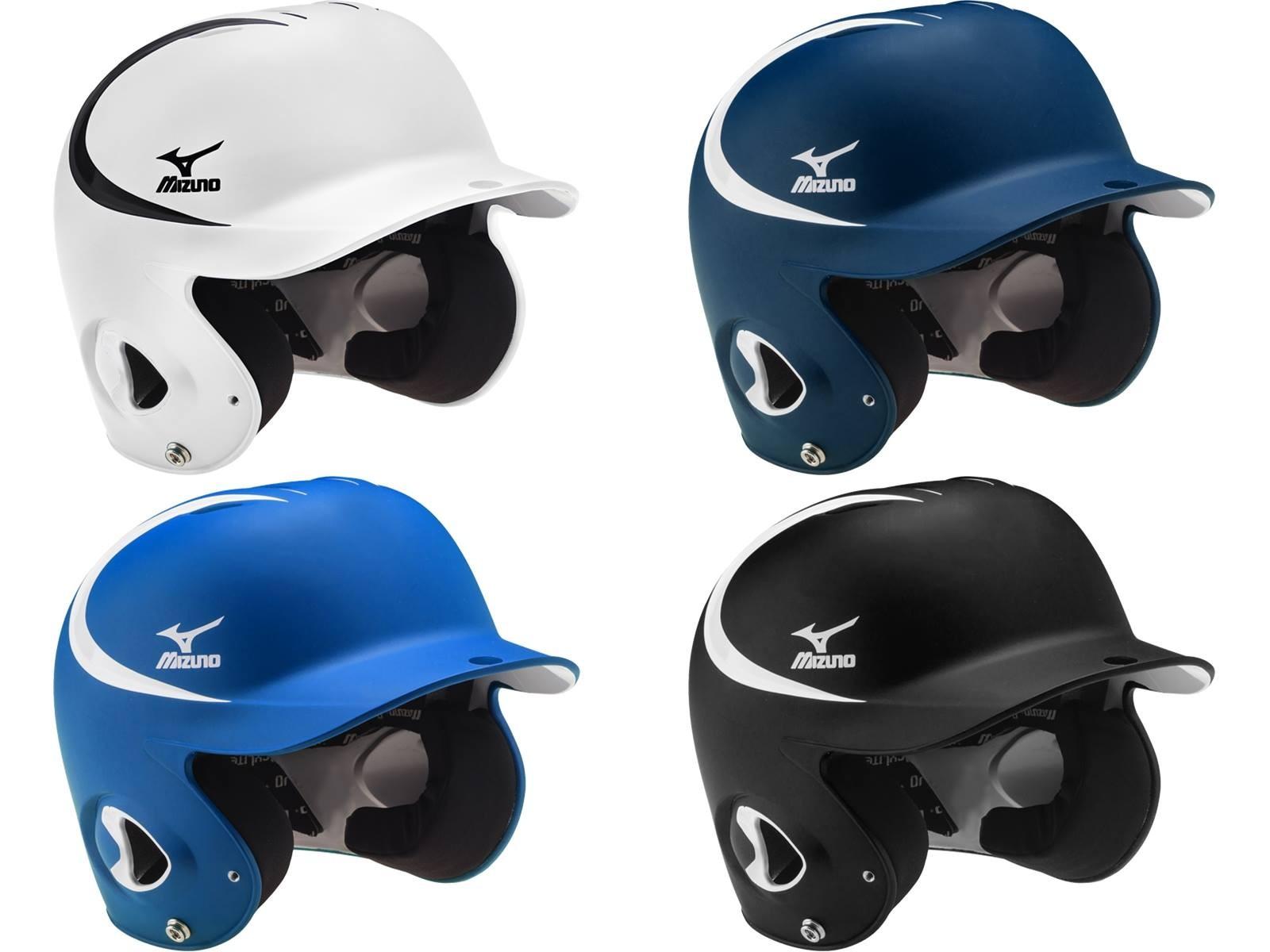 棒球世界 全新MIZUNO 美津濃 最新款式 雙色 可調式打擊頭盔