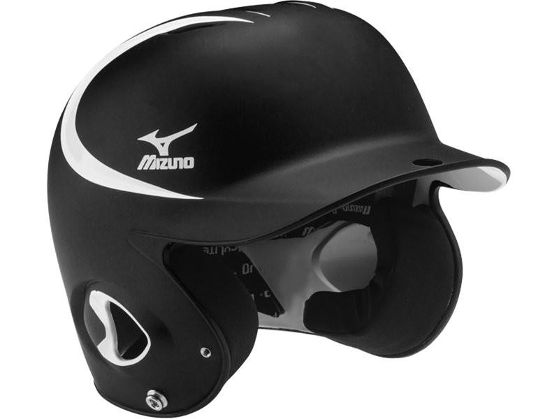 棒球世界 MIZUNO 美津濃 最新款式 雙色 可調式打擊頭盔 黑/白 特價