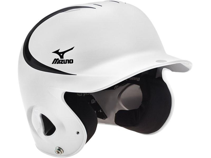 棒球世界 全新MIZUNO 美津濃 最新款式 雙色 可調式打擊頭盔 白/黑 特價