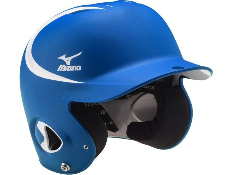 棒球世界 全新 MIZUNO 美津濃 最新款式 雙色 可調式打擊頭盔 寶藍/白 特價