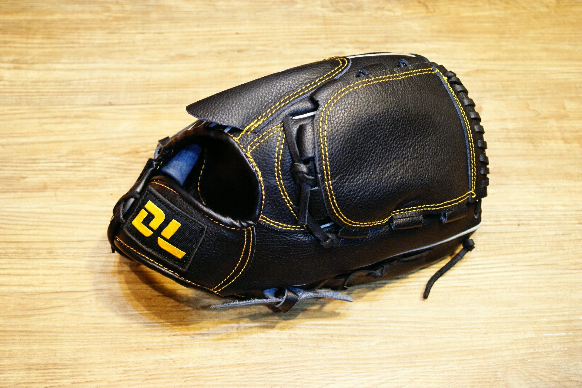 〈棒球世界〉DL最新款平價的牛皮棒壘球手套 投手用 送手套袋 不景氣也要全民打棒球