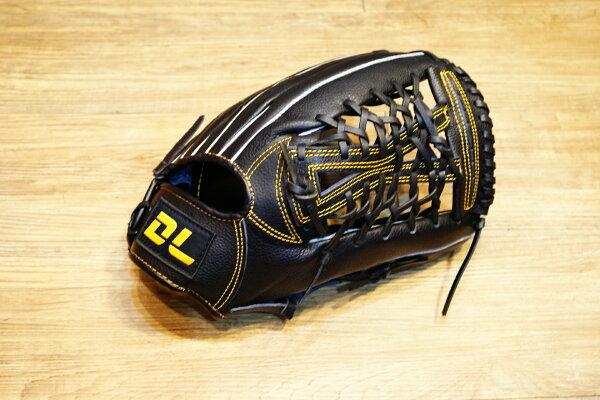 〈棒球世界〉DL最新款平價的牛皮棒壘球手套 外野手用 送手套袋 不景氣也要全民打棒球