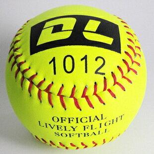 棒球世界 全新DL軟式牛皮壘球一顆特價