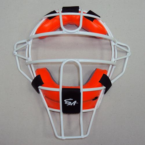 棒球世界 新款SA硬式捕手輕量化配色面罩 特價