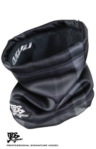 棒球世界 全新 野YAKYU 保暖護頸套 特價 格紋灰款式