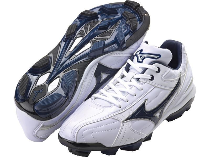 棒球世界 2014年 MIZUNO美津濃 Wave Franchise 棒壘球鞋 特價 白深藍款式