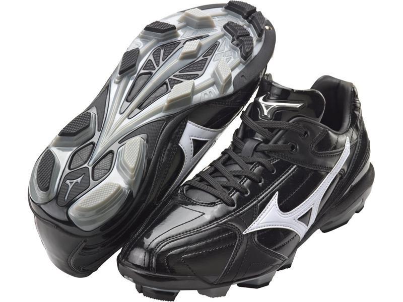 棒球世界 2014年 MIZUNO美津濃 Wave Franchise 棒壘球鞋 特價 黑白款式