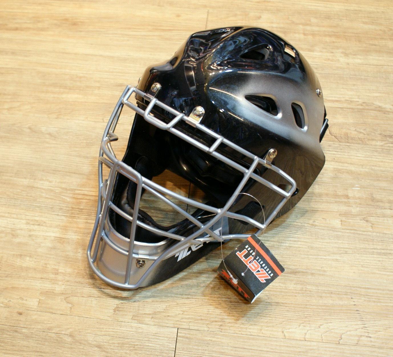 棒球世界 全新ZETT 少年用捕手護具(連罩式頭盔)~特價