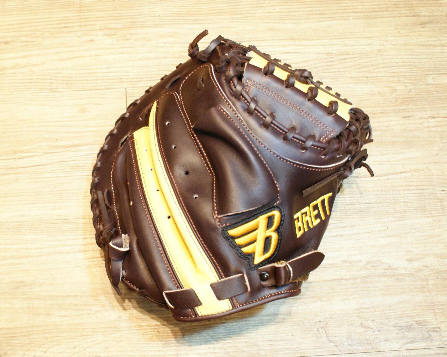 棒球世界 BRETT布瑞特『魂』系列美系雙色硬式棒球捕手專用手套 特價