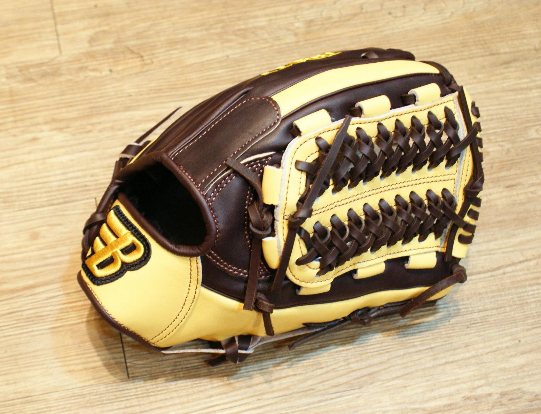 棒球世界 BRETT布瑞特『魂』系列美系雙色硬式棒球手套 特價 內野網狀