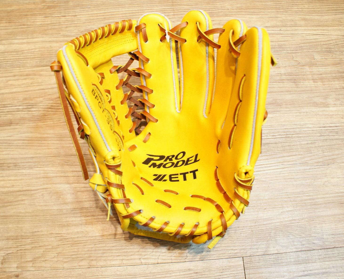 棒球世界 ZETT 黑底金標 硬式日本KIP 棒壘球手套 特價 12.5吋 原皮