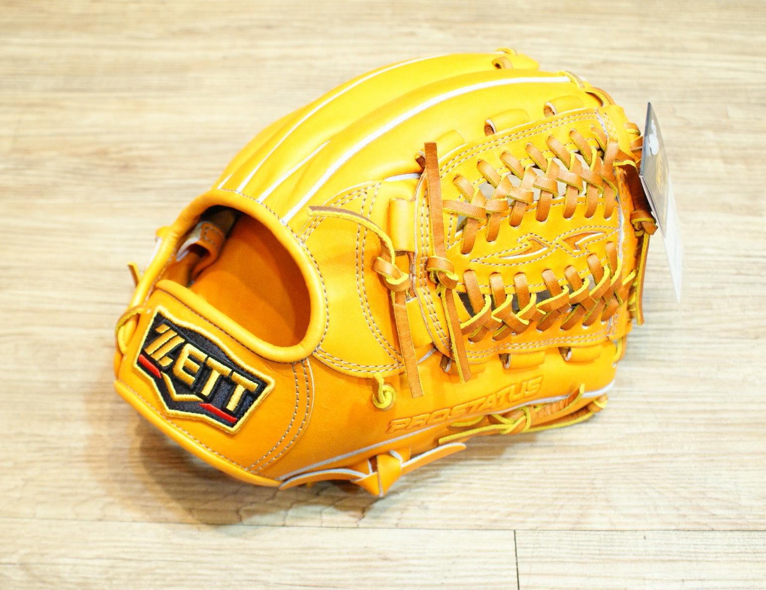 棒球世界 ZETT プロステイタス 硬式 野球用 グラブ 二塁手・遊撃手用 最上級 特價