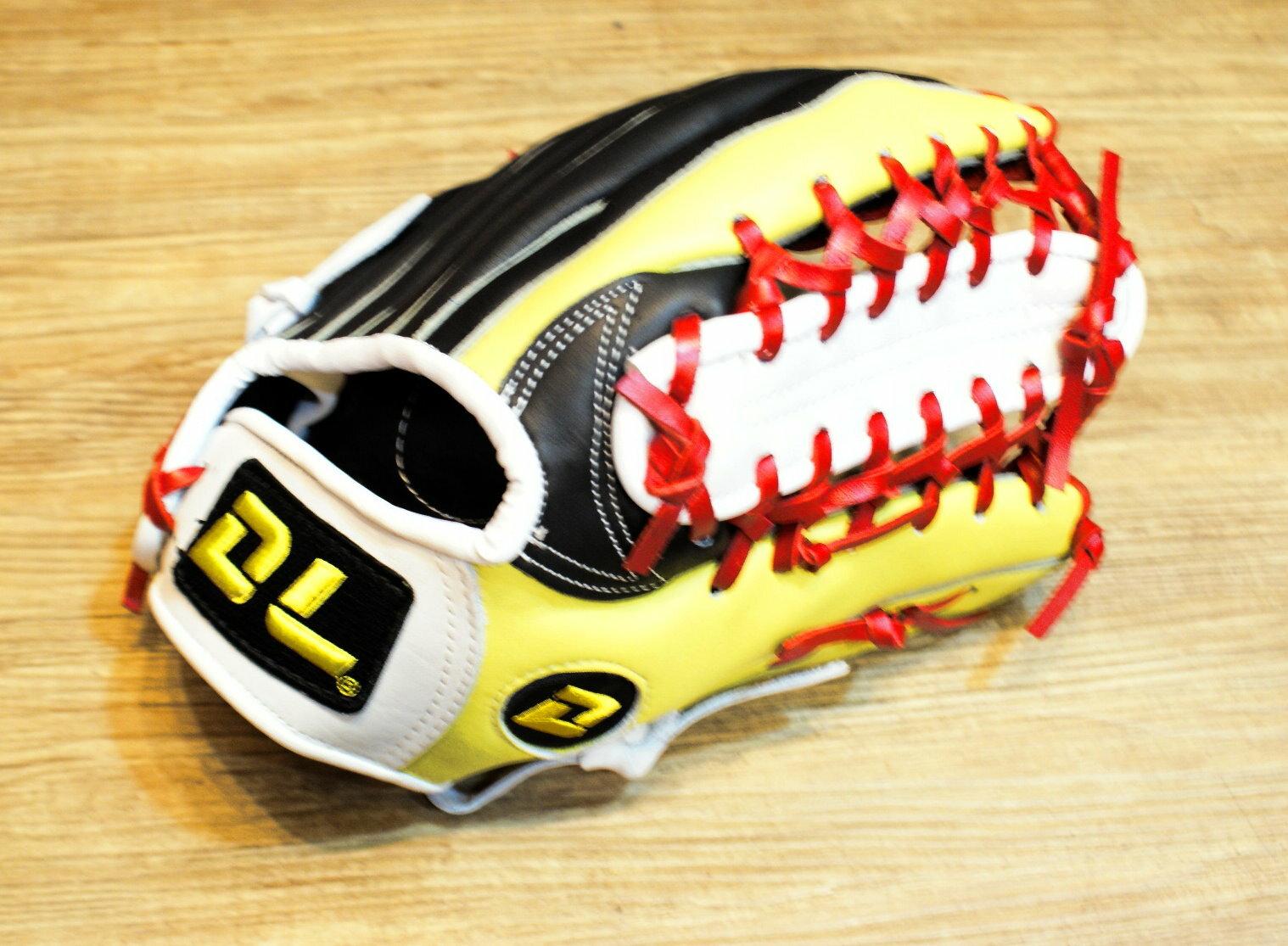 〈棒球世界〉DL牛舌檔訂製款 12吋棒壘手套 1600含運 加送手套袋 黃黑配色