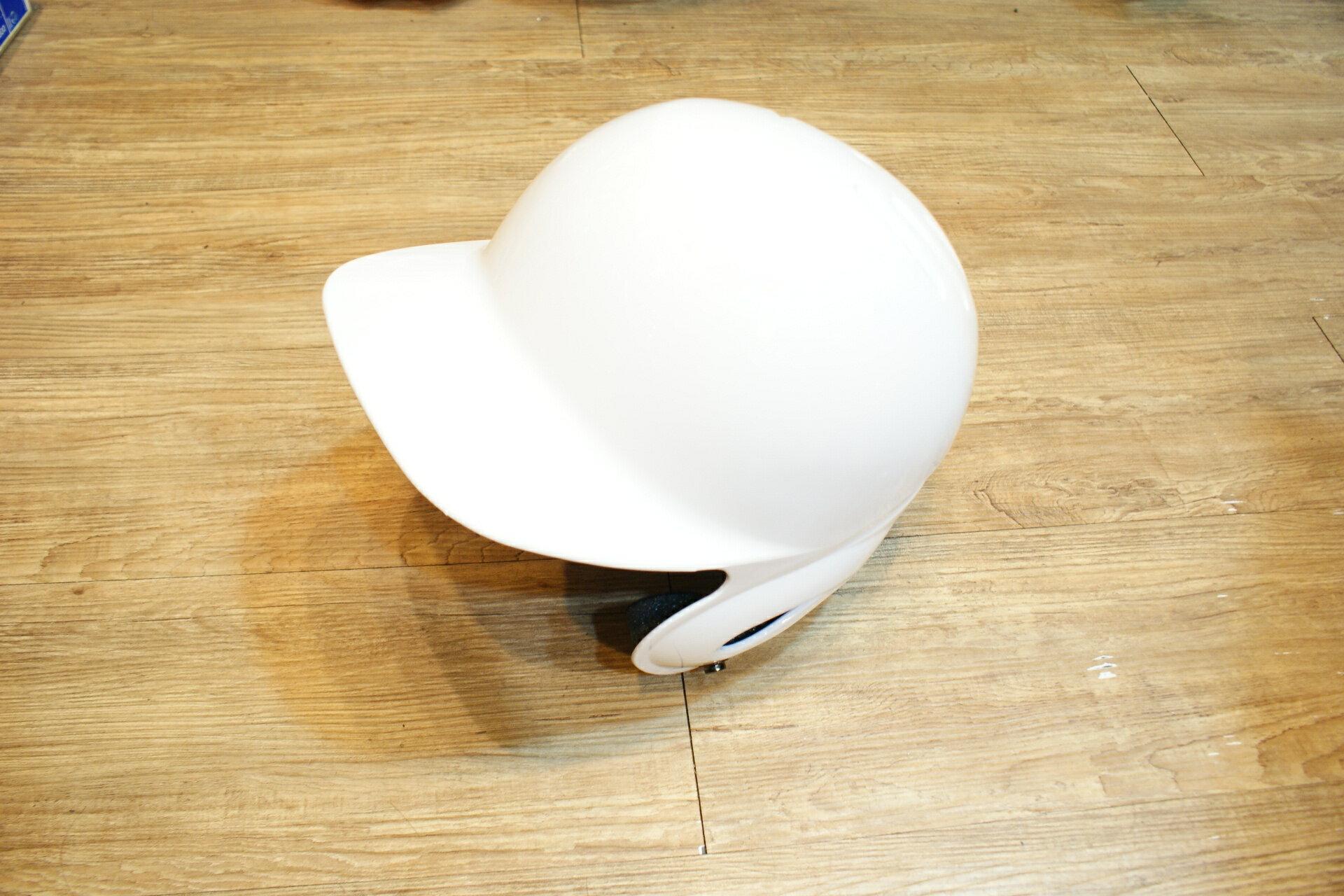 棒球世界全新海鳥出品打擊頭盔 白色 特價