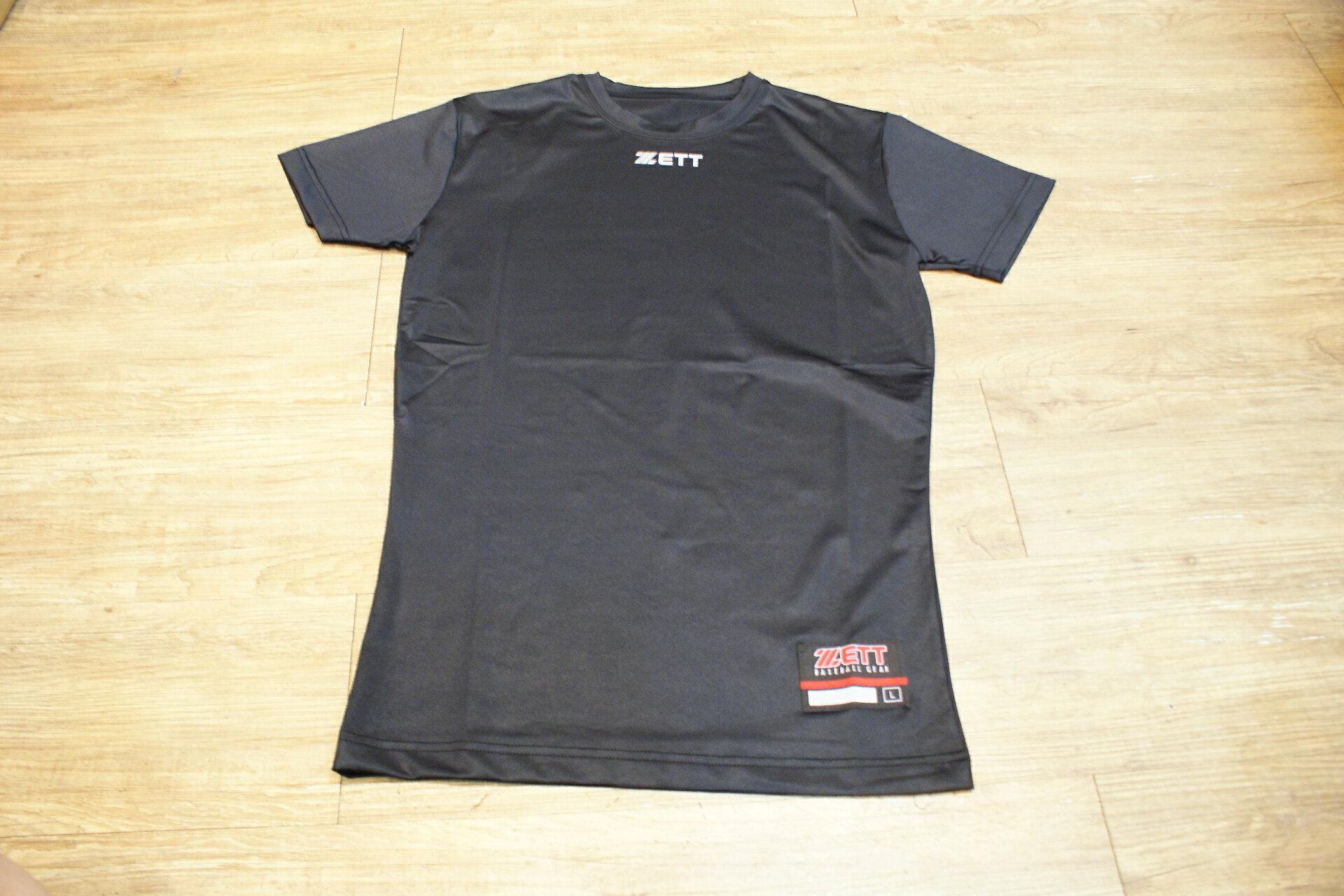 棒球世界 全新 ZETT 新款短袖圓領緊身衣 特價