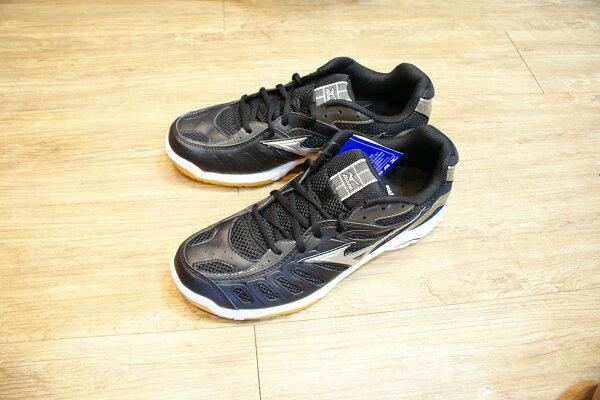 棒球世界全新 美津濃2013 MIZUNO 新款排球鞋(9KV-39103黑色)~特價