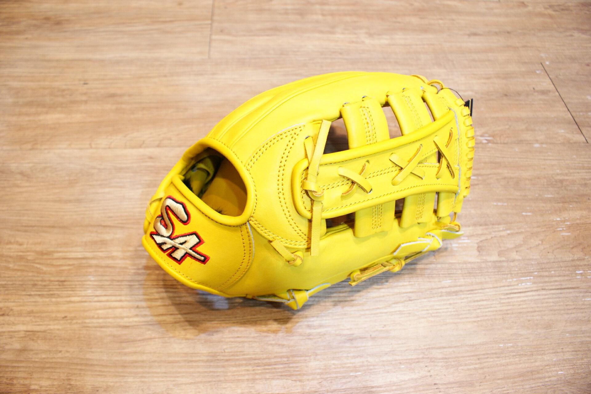 棒球世界 全新SA KIP 硬式小牛皮棒壘球手套 限量 發行 只有一個 雙十字