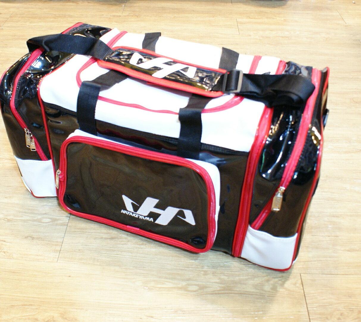棒球世界 全新HATAKEYAMA配色大型遠征袋/特價  黑底配色款