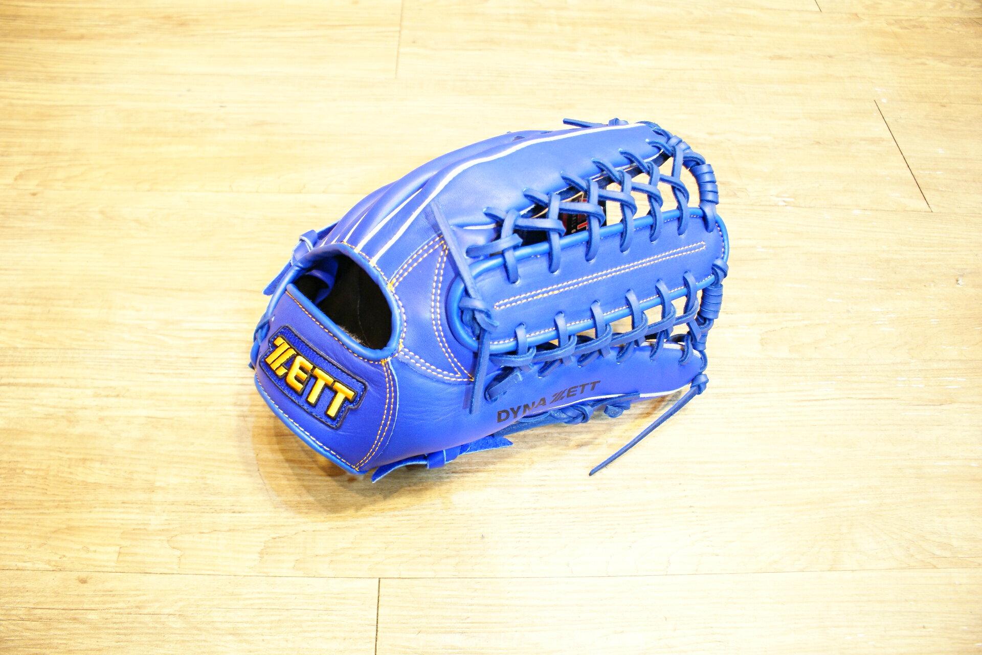 棒球世界 全新ZETT棒球外野手手套 藍色款 特價 牛舌檔