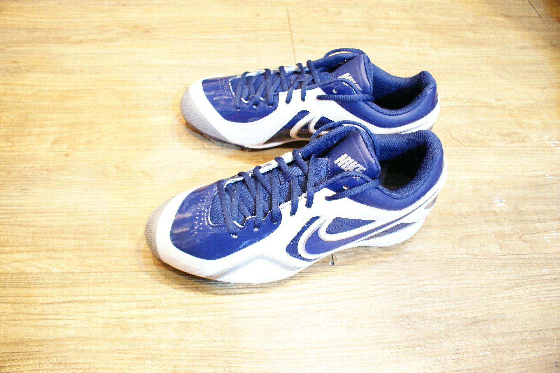 棒球世界全新NIKE ARI MVP READY MCS 白藍配色 膠釘鞋 特價 人氣賣家商品