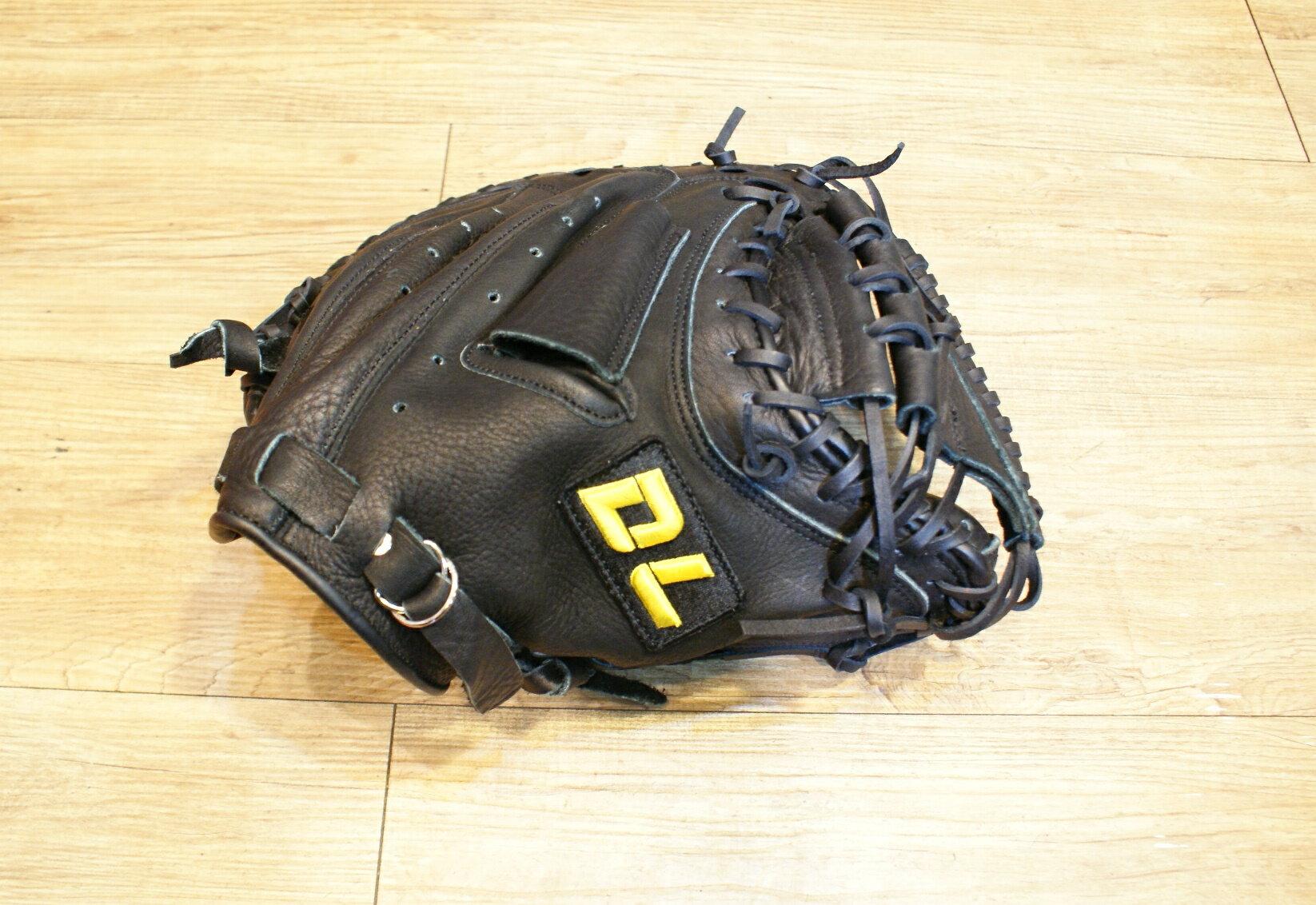 〈棒球世界〉全新DL 捕手手套/店家訂製款 / 送手套袋 黑色
