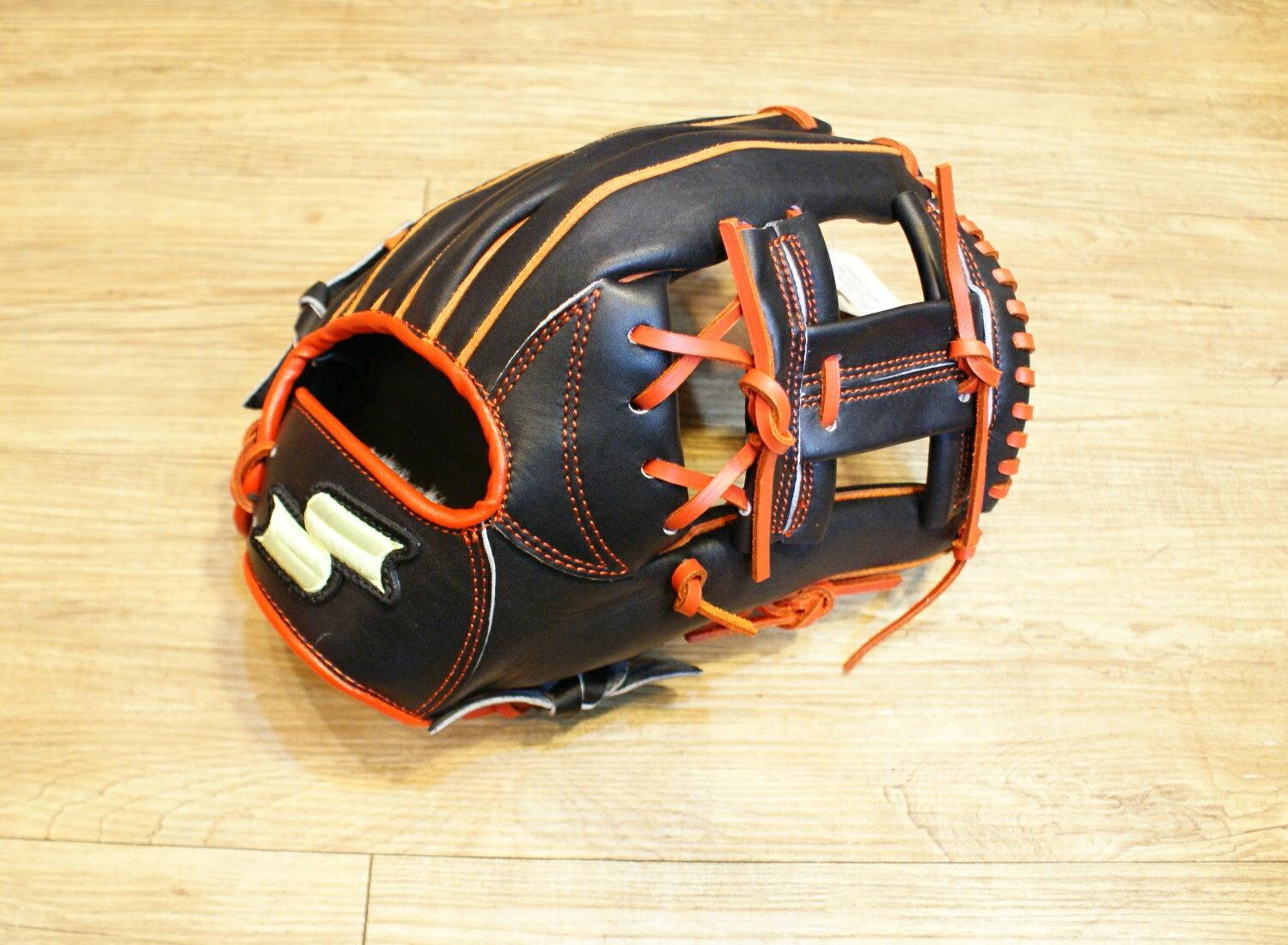 棒球世界 全新SSK黑橘配色棒壘球手套 特價 工字檔