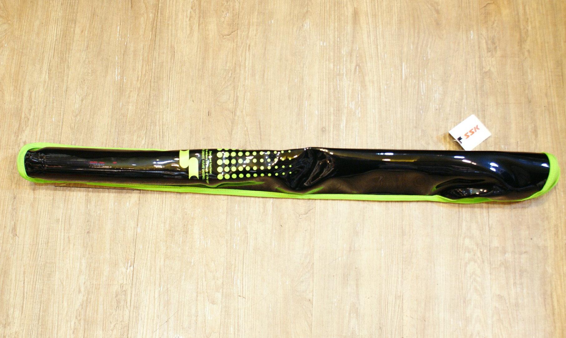 棒球世界全新SSK單支裝球棒袋 特價 黑綠配色