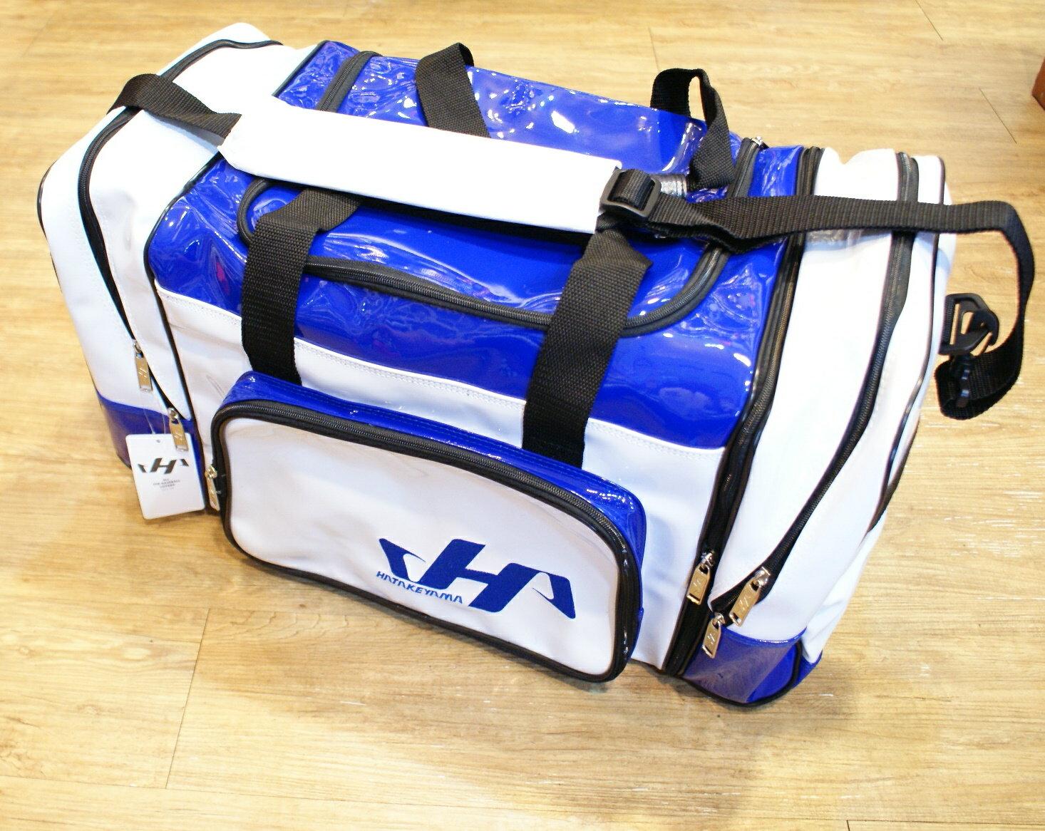 棒球世界 全新HATAKEYAMA配色大型遠征袋/特價  白藍配色款 特價